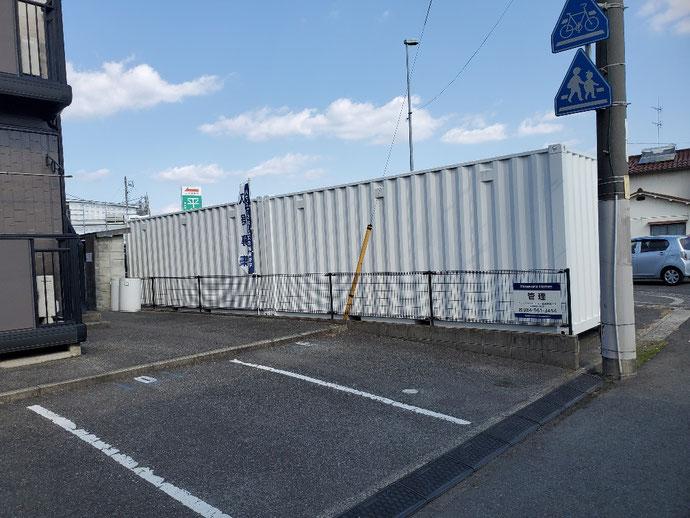 滋賀県近江八幡市 NEWVANコンテナ20ftグレー設置