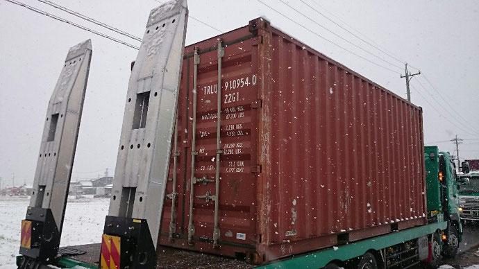 福島県いわき市 S社様中古貨物コンテナ20ft納品