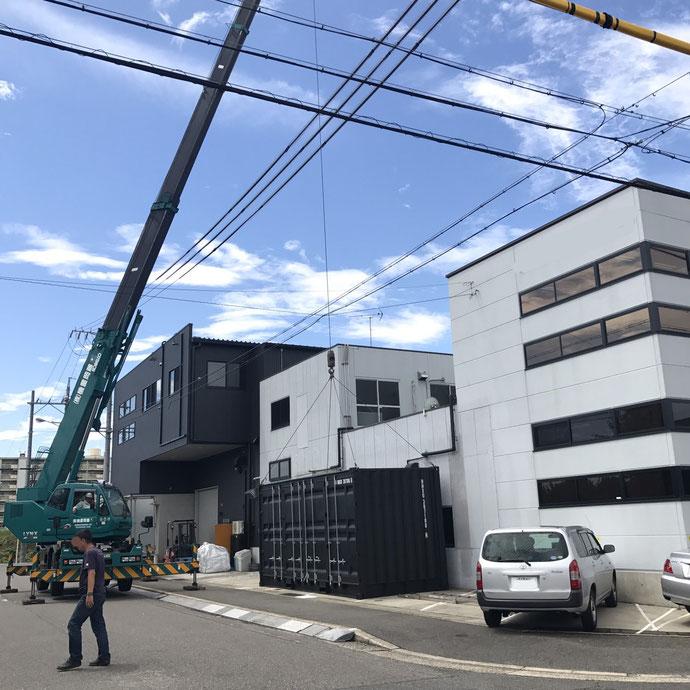 愛知県名古屋市 新品コンテナ20ftハイキューブ納品