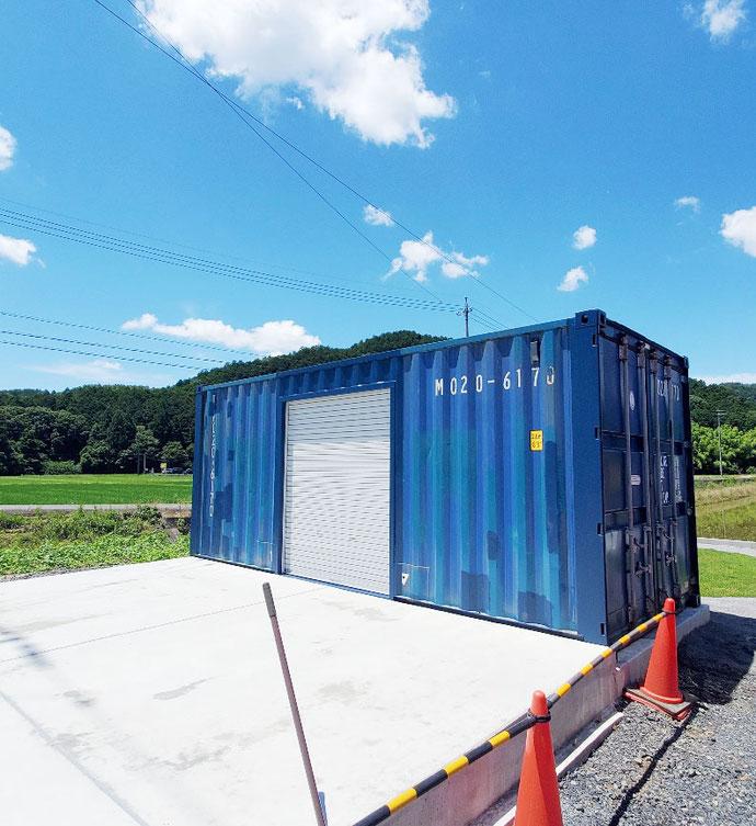 岐阜市福富 中古コンテナ20ft1800シャッター付設置