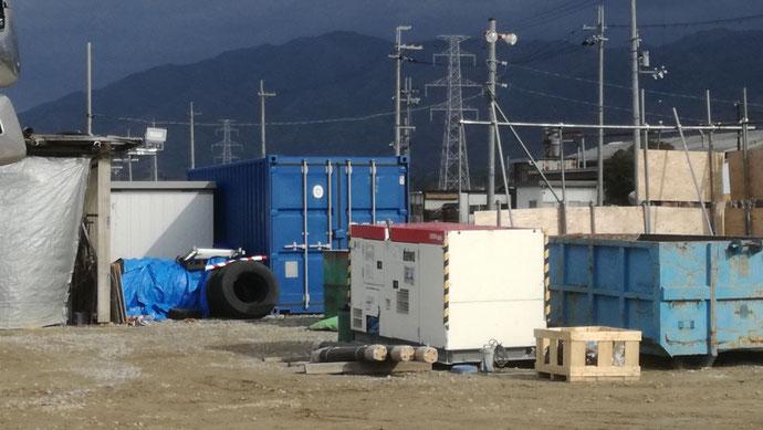 滋賀県東近江市 NEWVANコンテナ20ft設置