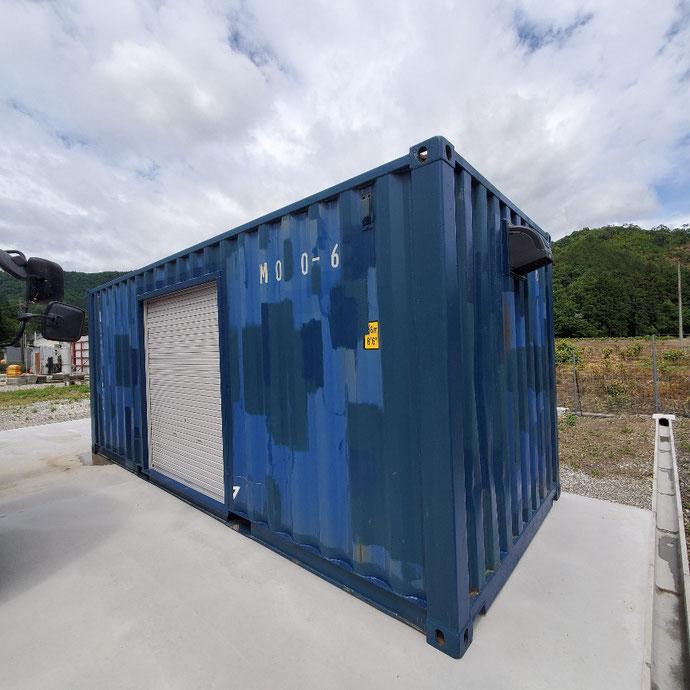 揖斐郡谷汲村 中古コンテナ20ftシャッター付き設置