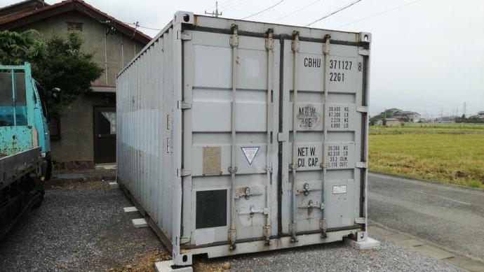 安八郡神戸町 中古コンテナ20ft現状品納品