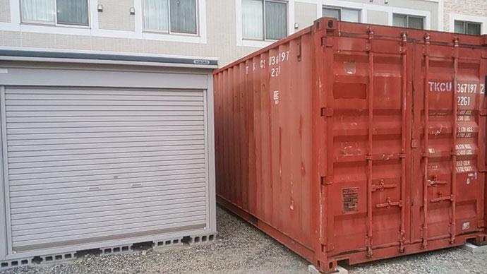 三重県桑名市 中古コンテナ20ft現状品設置