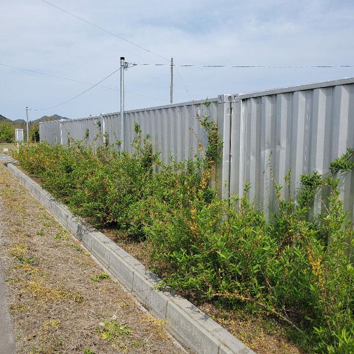 岐阜県関市 中古コンテナ20ftルーフシャッターボックスシルバー塗装設置