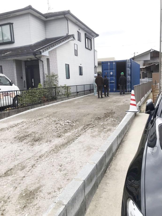 岐阜県可児市 中古コンテナ20ft現状品設置
