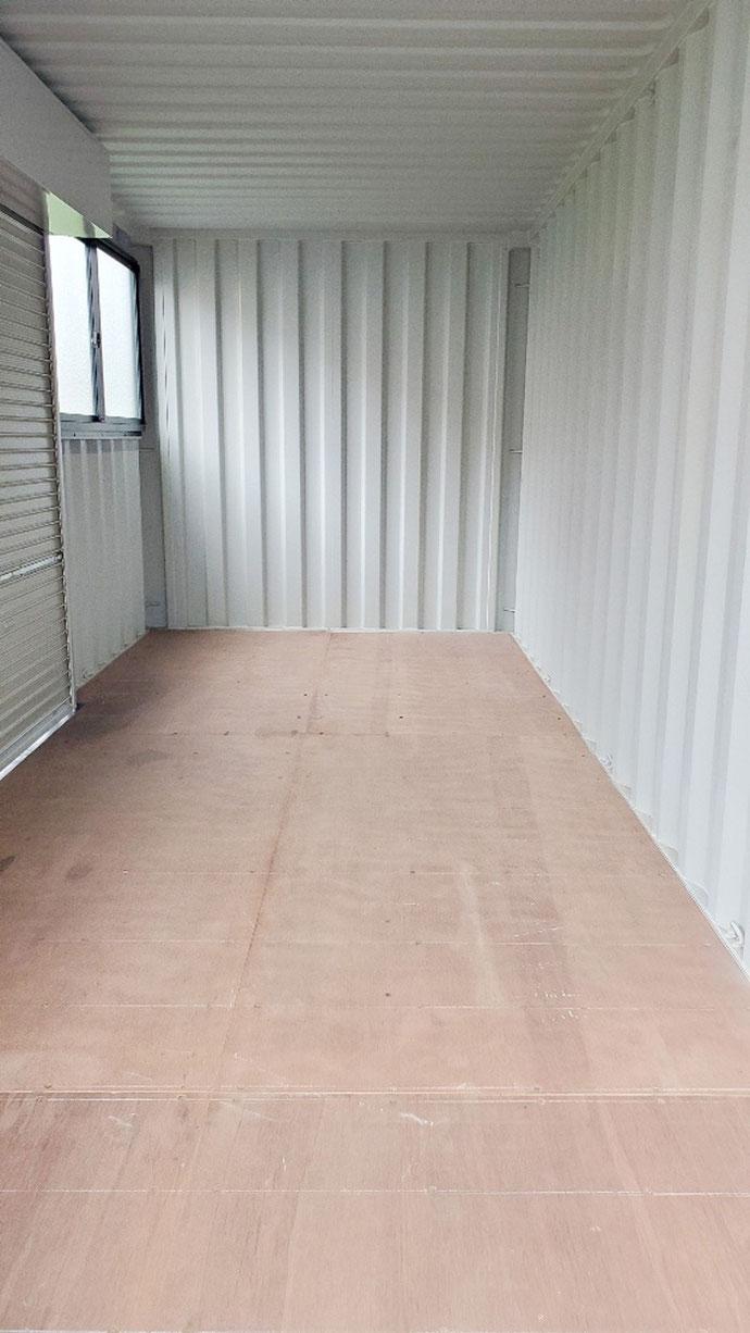 岐阜県 岐阜市 NEWVAN コンテナ 20ft シャッター 窓