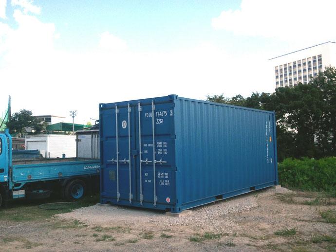 愛知県春日井市 建設業様 中古コンテナ20ft NEWVAN 納品