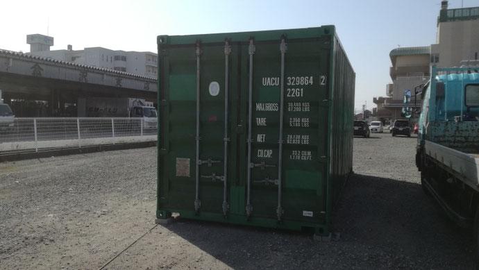 石川県野々市市 中古コンテナ20&40ftノーマル シャッターW2300納品