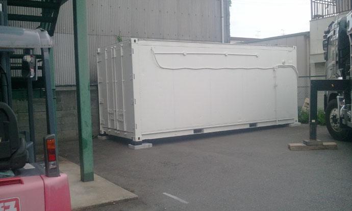 京都府 佃煮屋さん 中古冷凍コンテナ20ft  納品