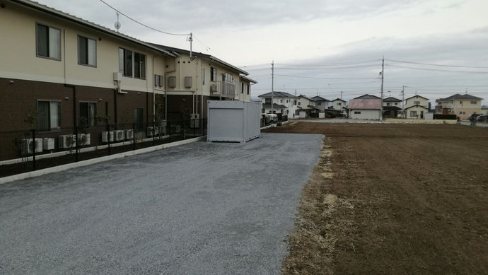長野県佐久市 中古コンテナ20ft妻シャッター付き納品