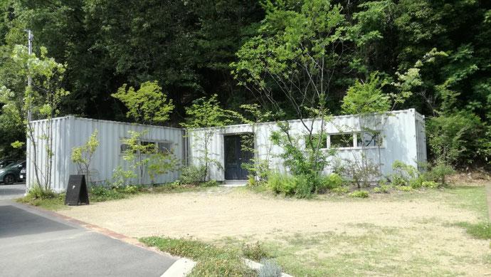 山県市佐賀 中古コンテナ20ft現状品設置