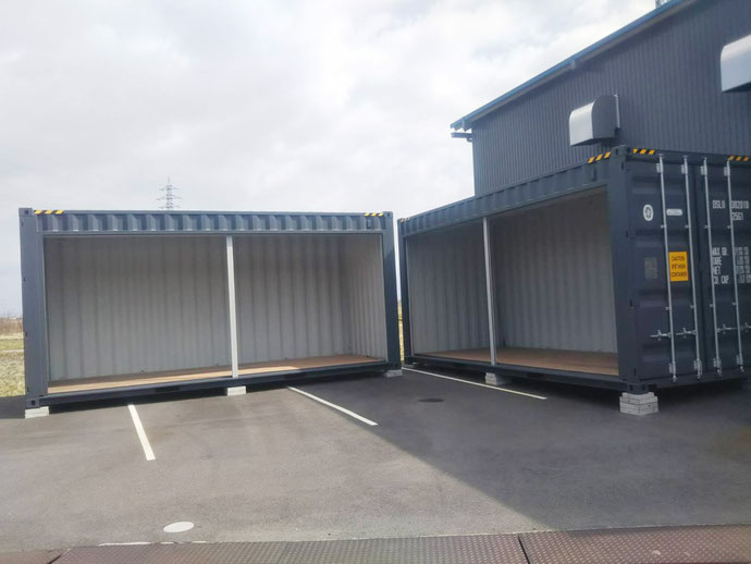 滋賀県愛知郡 NEWVANコンテナ20ftハイキューブフルシャッター2本設置