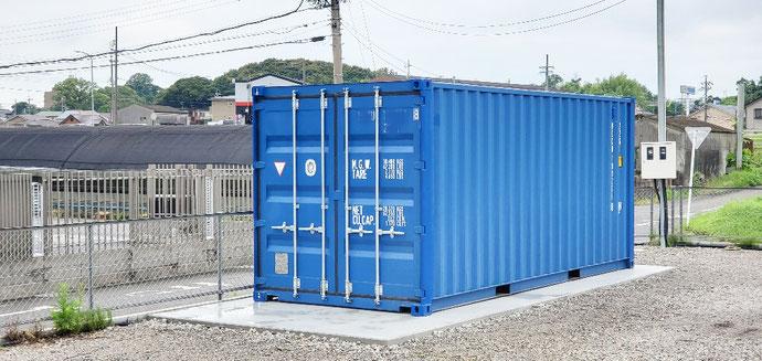愛知県東海市 NEWVANコンテナ20ft設置