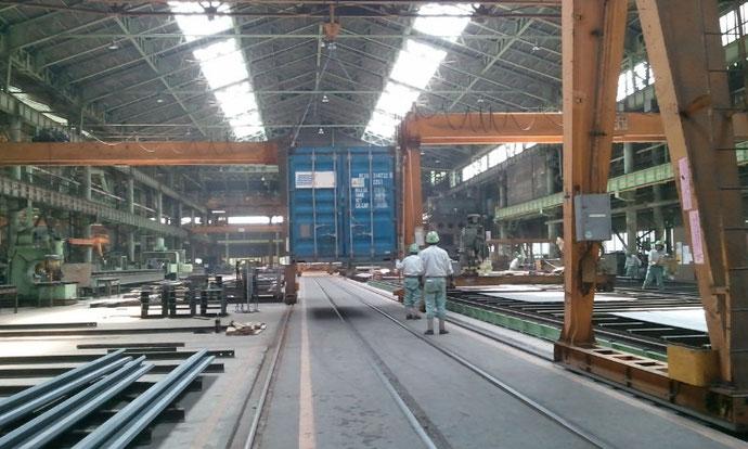 愛知県 中古コンテナ20ft現状品工場へ納品