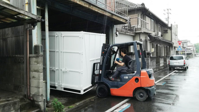 愛知県東海市 中古ミニコンテナ設置