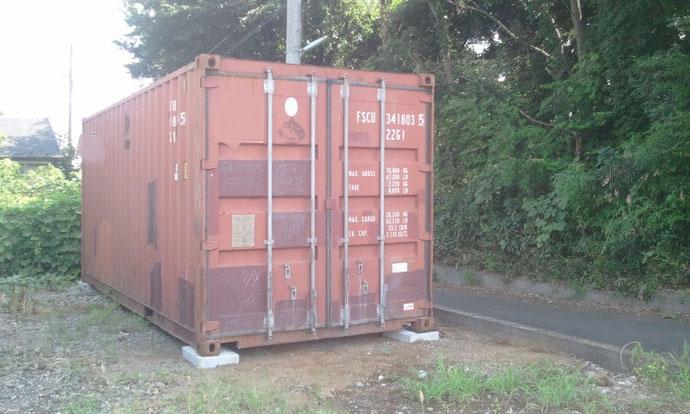 埼玉県さいたま市膝子 中古コンテナ20ft現状品 納品