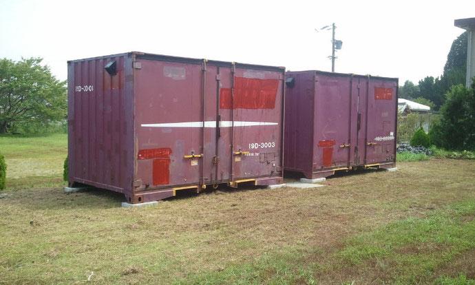 三重県度会郡 中古貨物コンテナ12ft ソーラー換気扇付き納品