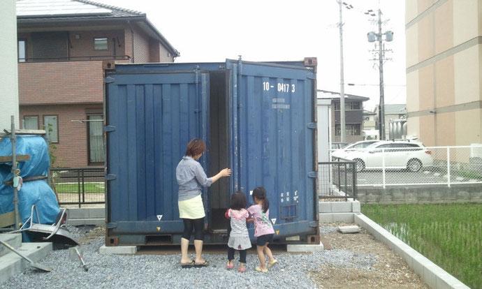 岐阜県大垣市 中古コンテナ10ft現状品納品