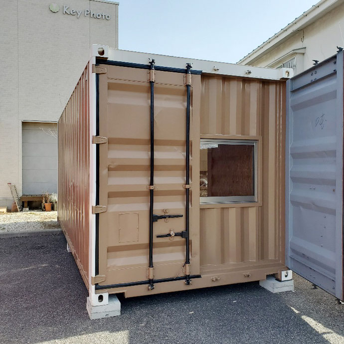長野県松本市 中古コンテナ20ft改造品設置