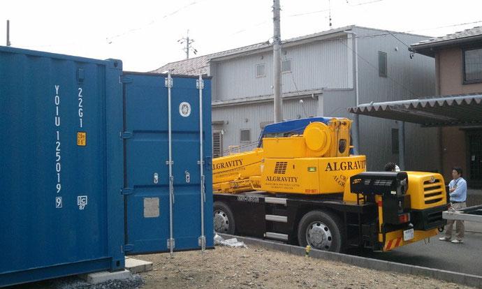 大垣市の電気工事業者様にコンテナ20ftニューバン設置
