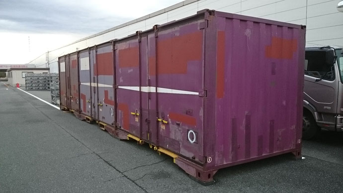 福島県いわき市 中古貨物コンテナ12ft納品