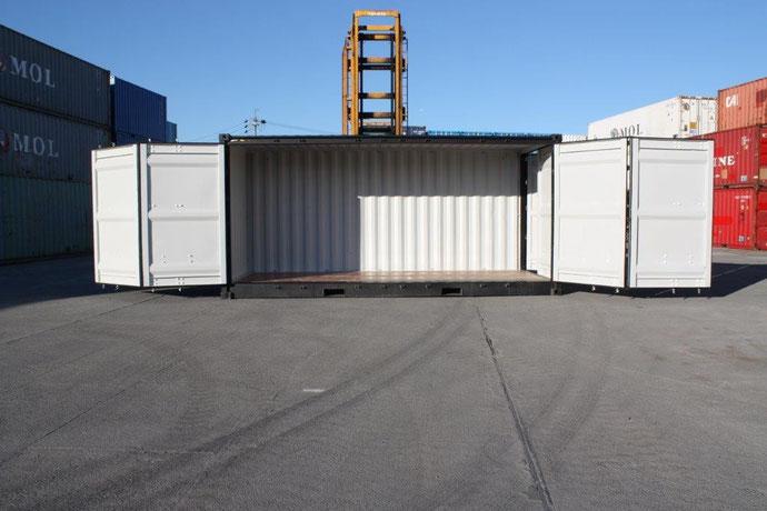 20フィートコンテナ ハイキューブサイドオープン海上コンテナ中古販売倉庫販売コンテナ販売
