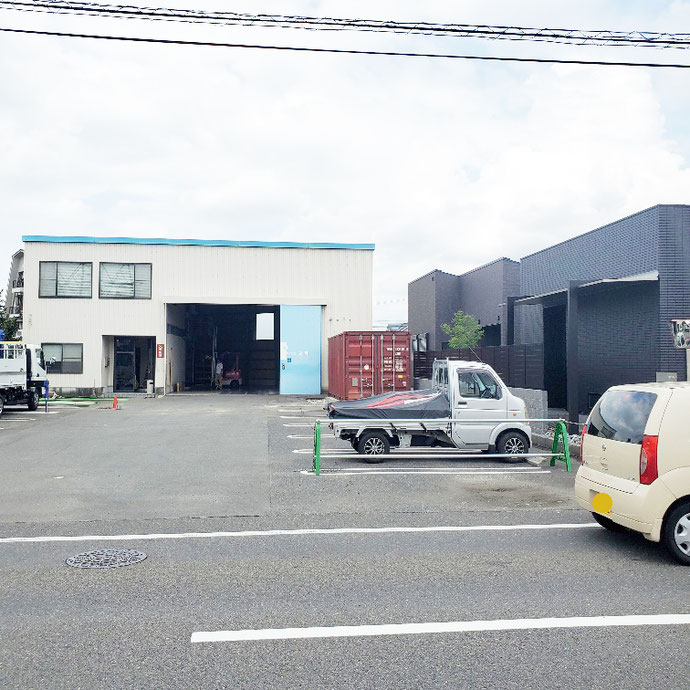 岐阜県岐阜市 中古コンテナ20ft現状品設置
