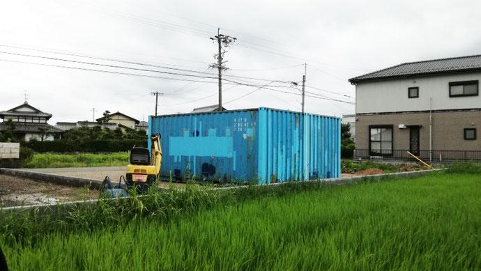 岐阜県大垣市 中古コンテナ20ft現状品2本合体納品