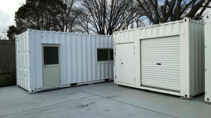 千葉県 Y社様 中古コンテナ20ft内装ドア窓 ホワイト塗装納品