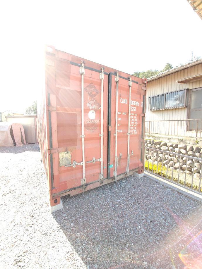 岐阜県山県市 中古コンテナ20ft現状品設置