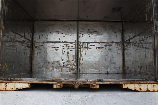 貨物用コンテナ20フィートサイドオープン側開き(中古/シルバー)