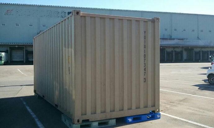 石川県金沢市 運送会社様20ftベージュ特価品 納品