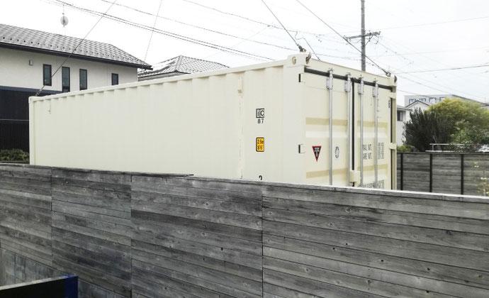 大垣市熊野町 NEWVANコンテナ20ft設置
