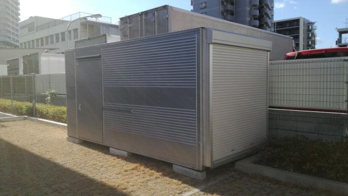 神戸市兵庫区 中古2tアルミコンテナ納品