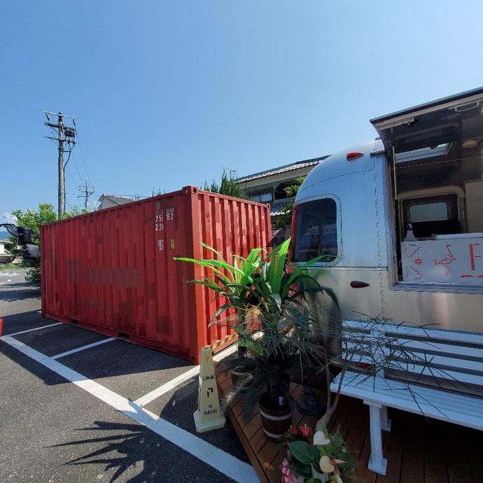 滋賀県大津市 中古コンテナ20ft現状品設置