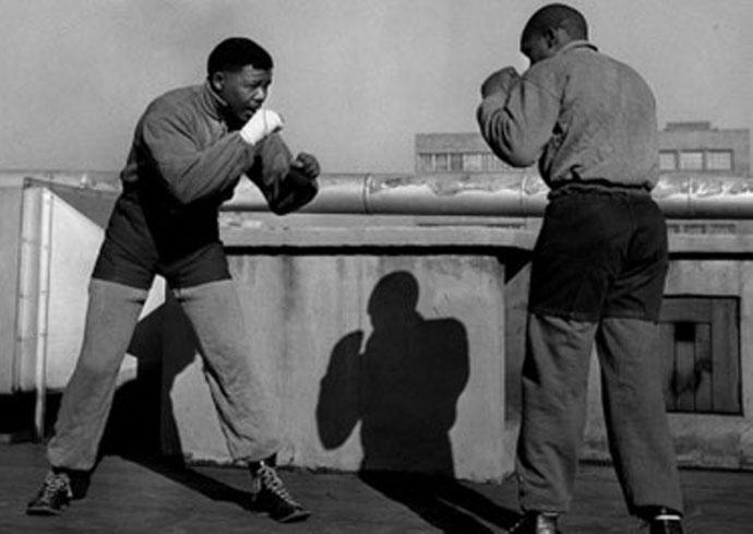 Mandela som ung bokser