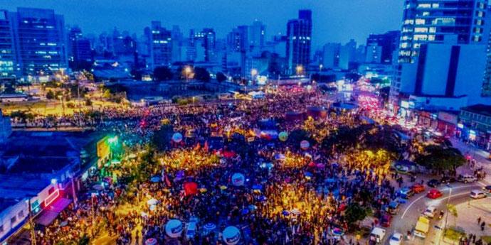 Faglig 1. maj - demo i São Paulo, organiseret af landets største fagforbund CUT