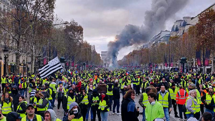 'GiletsJaunes' - demo i Paris d. 21. september 2020