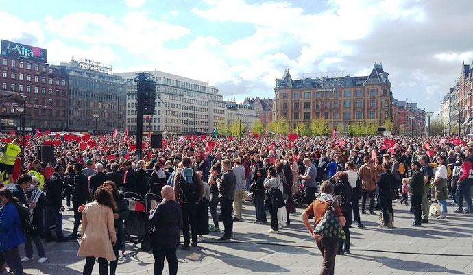 Demonstrationen i København med omkring 4000 deltagere