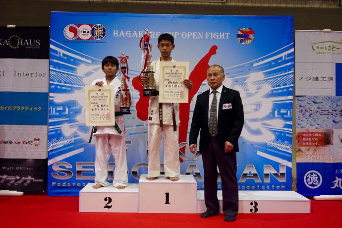 チャンピオンクラス 中学生男子 軽量級 優勝 原田航綺