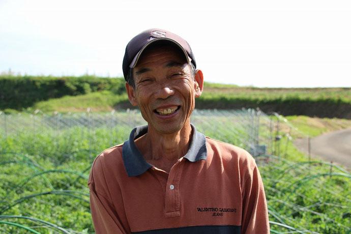 宮崎県綾町 山口農園の山口今朝廣さんの笑顔の写真