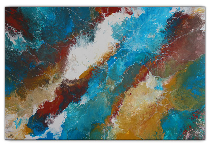 Korallen Gemälde - abstrakte Malerei Acrylbild 120x80x2cm