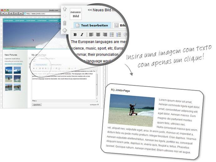 Insira uma imagem com texto com apenas um clique!