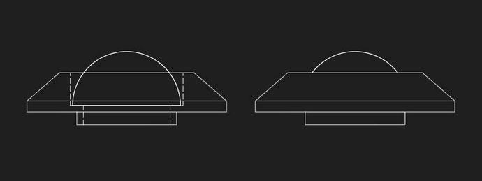 パイロットランプ(M2タイプ ビンテージクラスター):RSプロダクツ