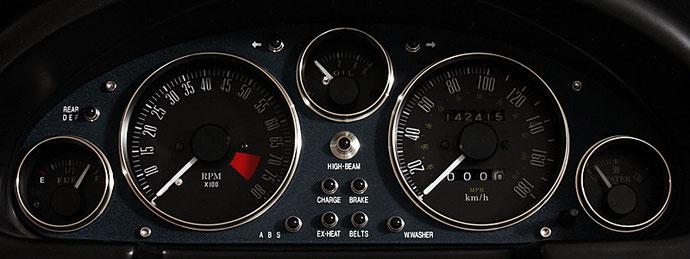 EUNOS ロードスター NA用 ビンテージメーターパネル (ネイビー) TYPE-01