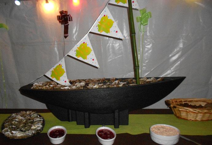 Traiteur le Cochon sans Rancune - Montrieux-en-Sologne - Bateau d'huîtres pour un anniversaire sur mesure