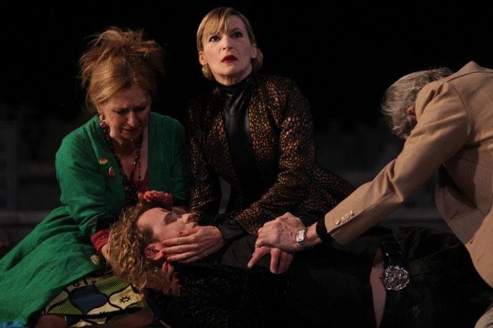 Scène de la pièce de théâtre Roméo et Juliette