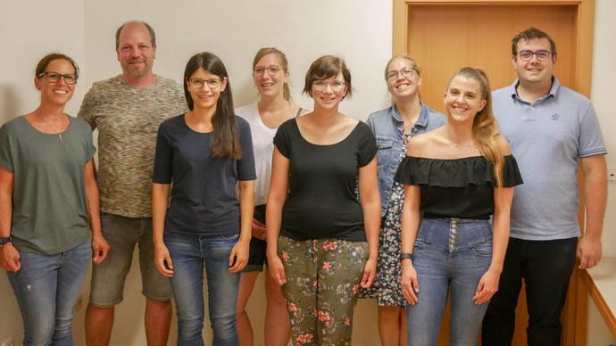 Von links nach rechts: Christian Redelberger, Karin Böhm, Doreen Schick, Simone Wenzel und Nadine Weichsel (Es fehlen Thorsten Gram, Lisa Hartmann und der Kirchlicher Vertreter)