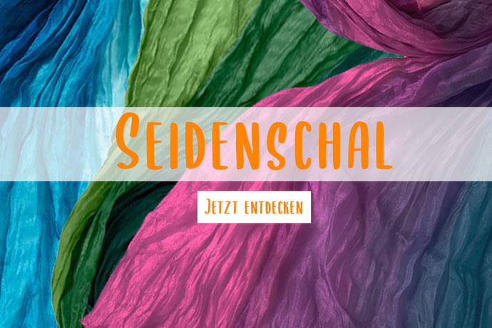 Schals mit Lochmuster einfarbig Invero aus Merinowolle